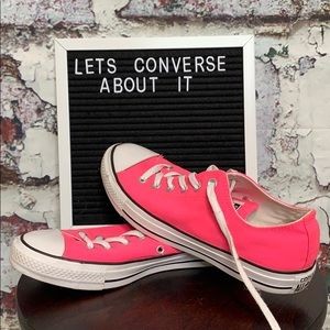 Bright pink converse size 9.5